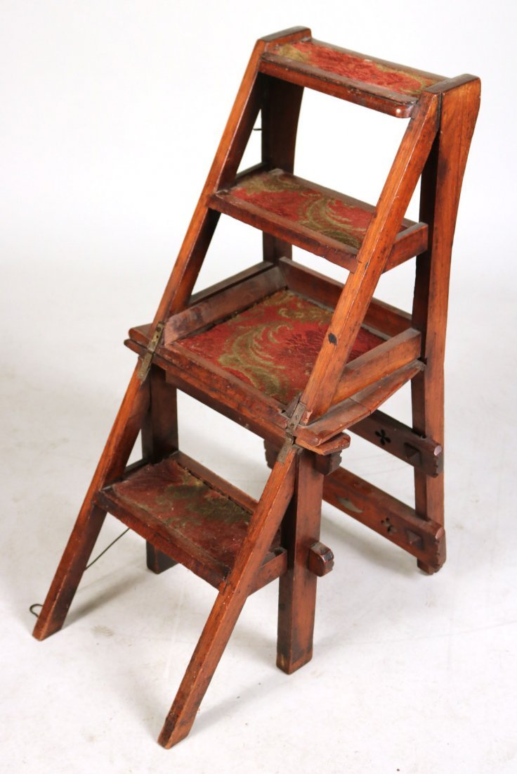 Modern Gothic Oak Metamorphic Library Chair - 3