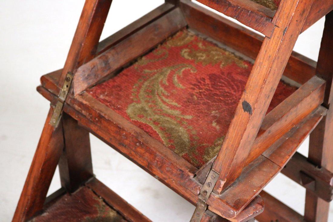 Modern Gothic Oak Metamorphic Library Chair - 4