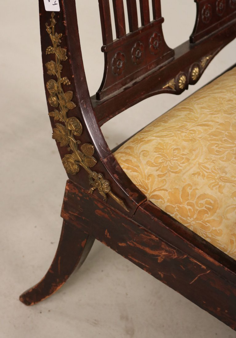 Empire Style Brass-Mounted Mahogany Chaise - 2
