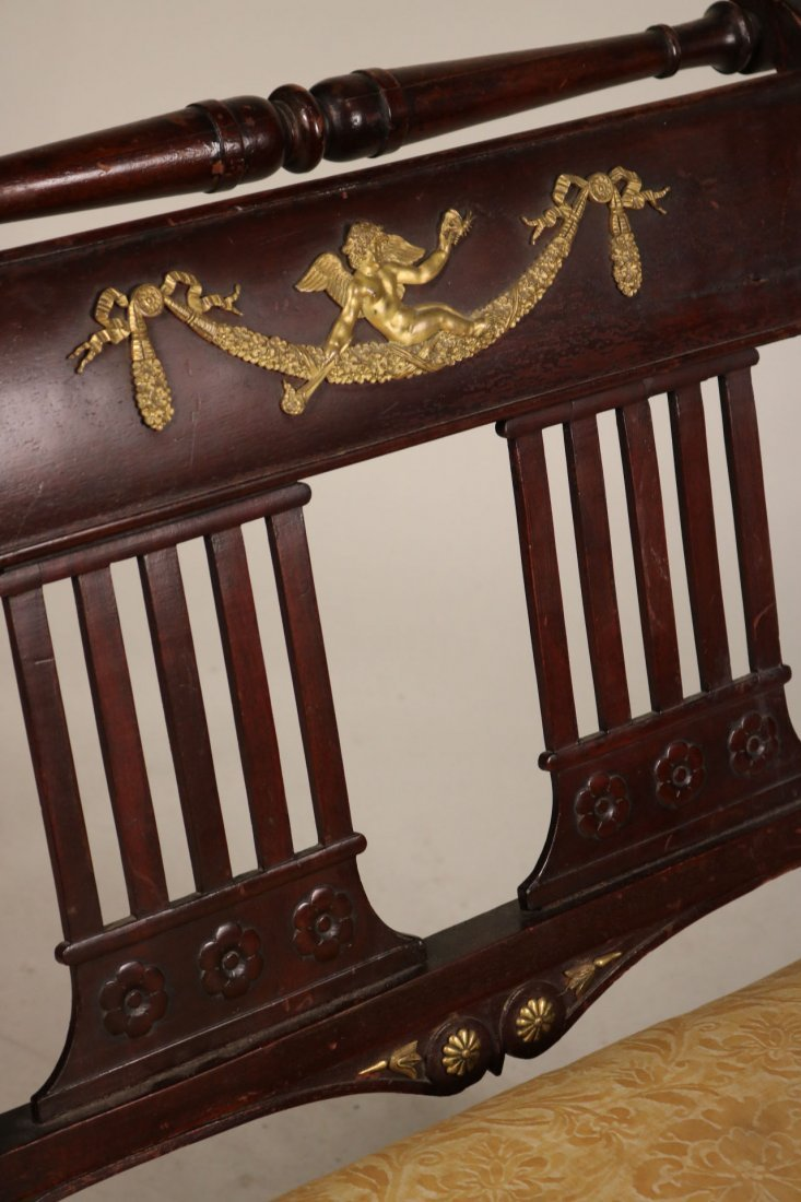 Empire Style Brass-Mounted Mahogany Chaise - 3