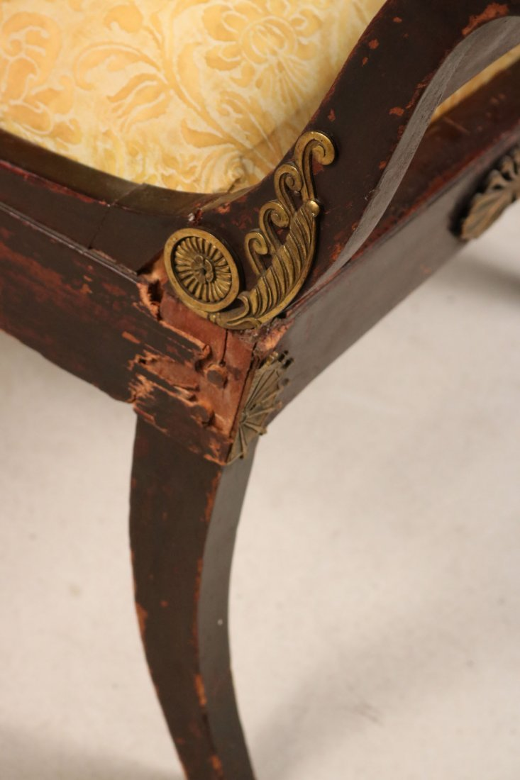 Empire Style Brass-Mounted Mahogany Chaise - 4
