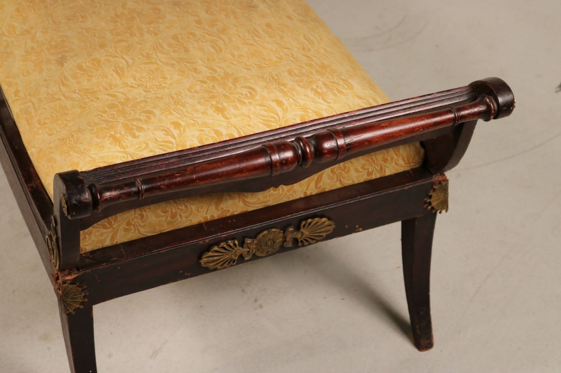Empire Style Brass-Mounted Mahogany Chaise - 5