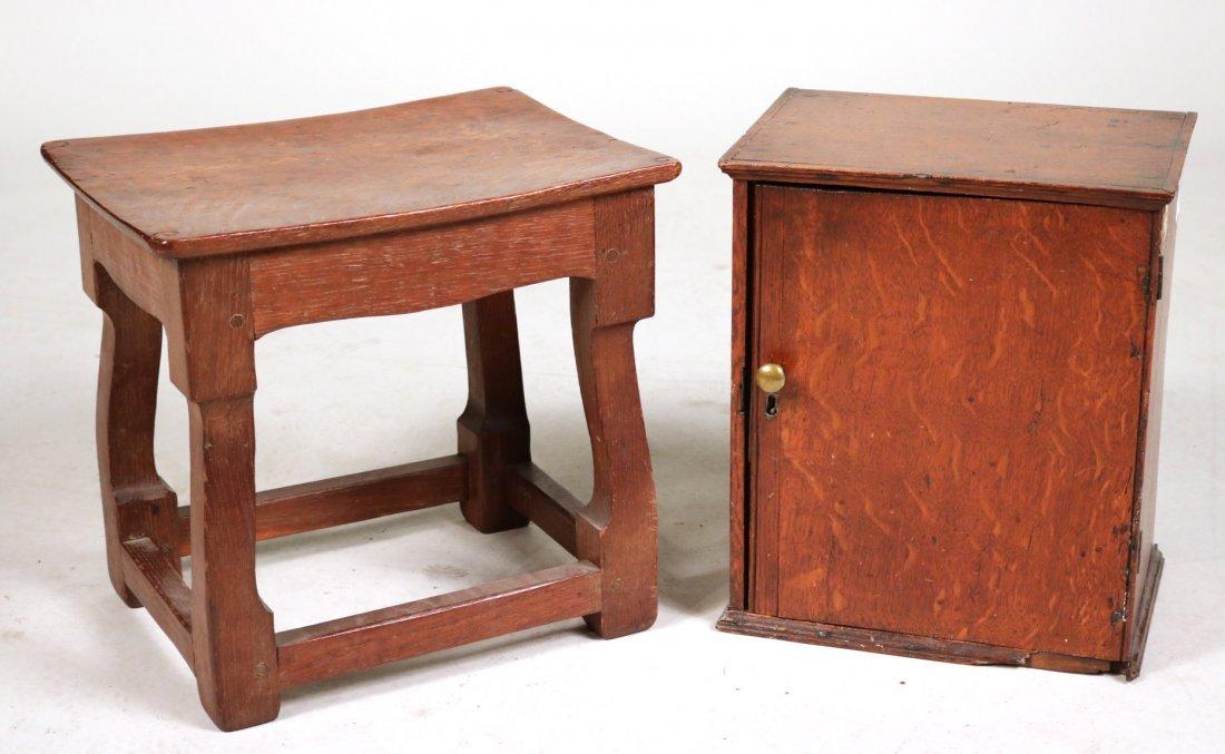 Oak Salesman Sample Cabinet