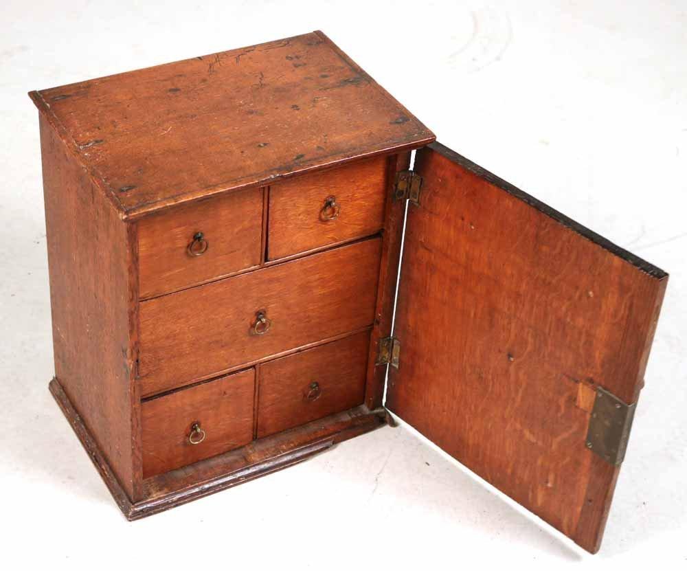 Oak Salesman Sample Cabinet - 5