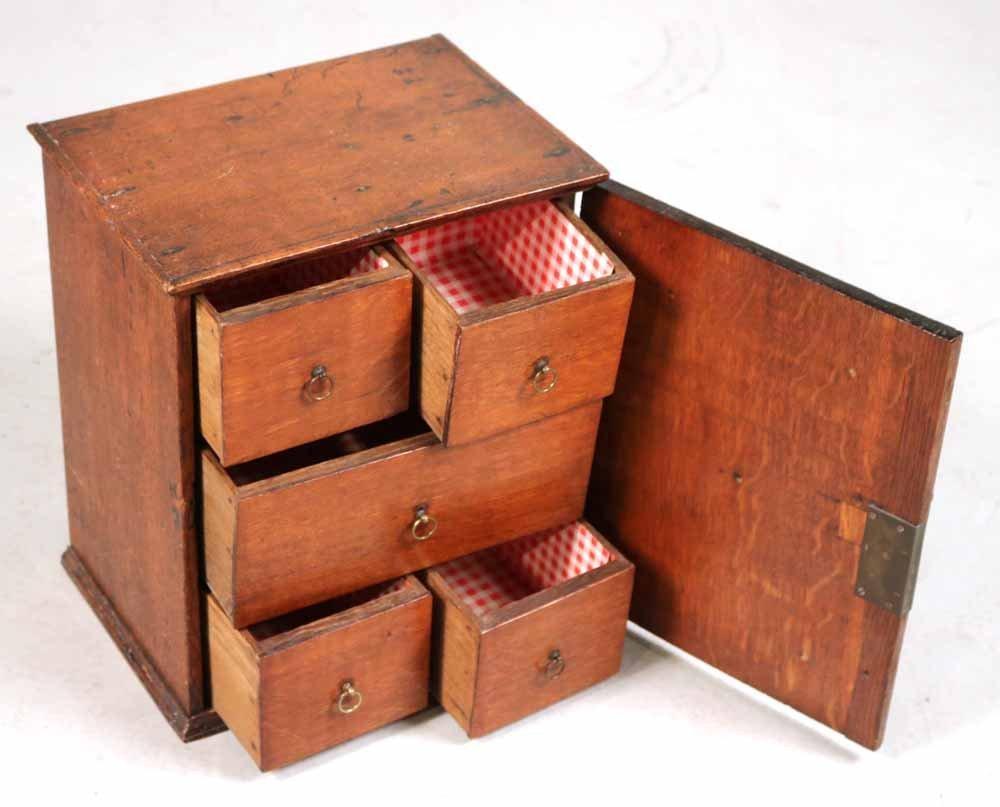 Oak Salesman Sample Cabinet - 7