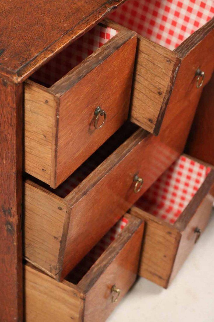 Oak Salesman Sample Cabinet - 8