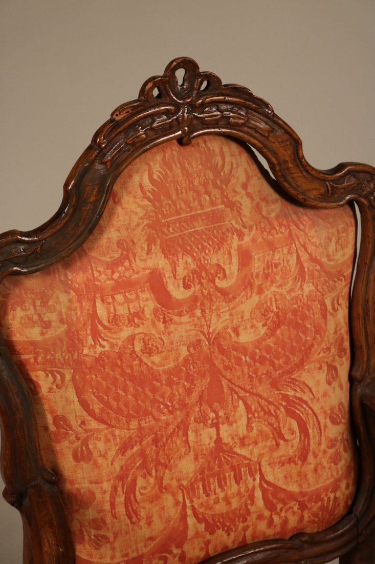 Rococo Carved Walnut Armchair - 3