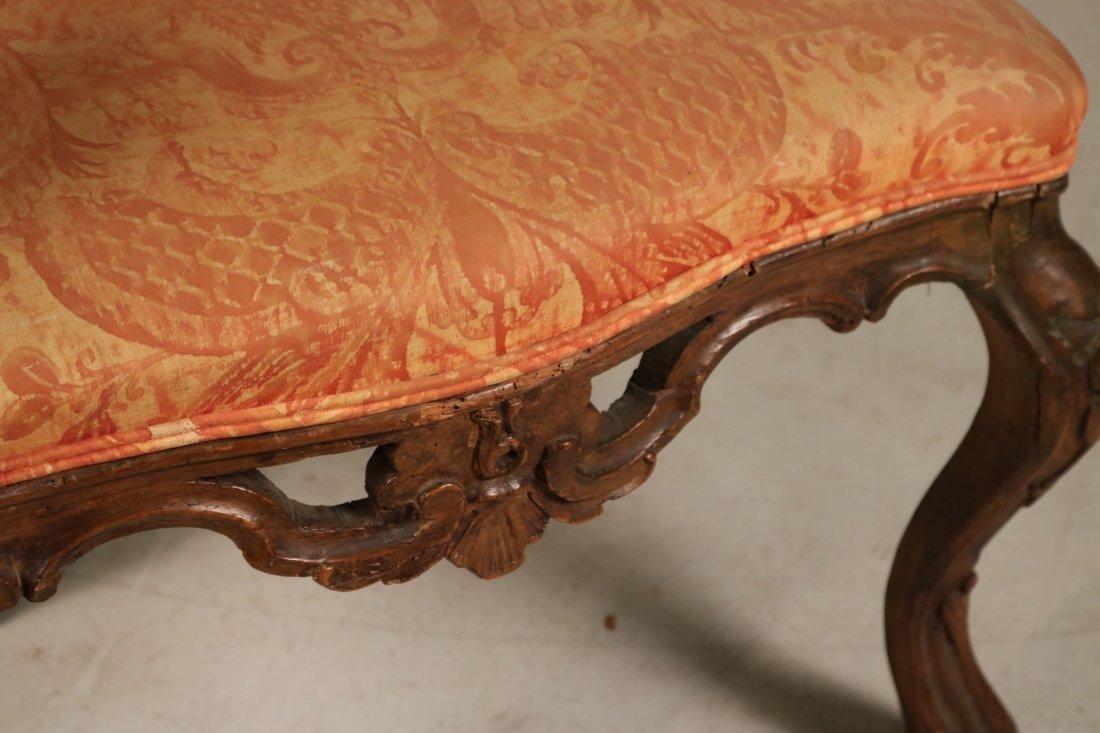 Rococo Carved Walnut Armchair - 4