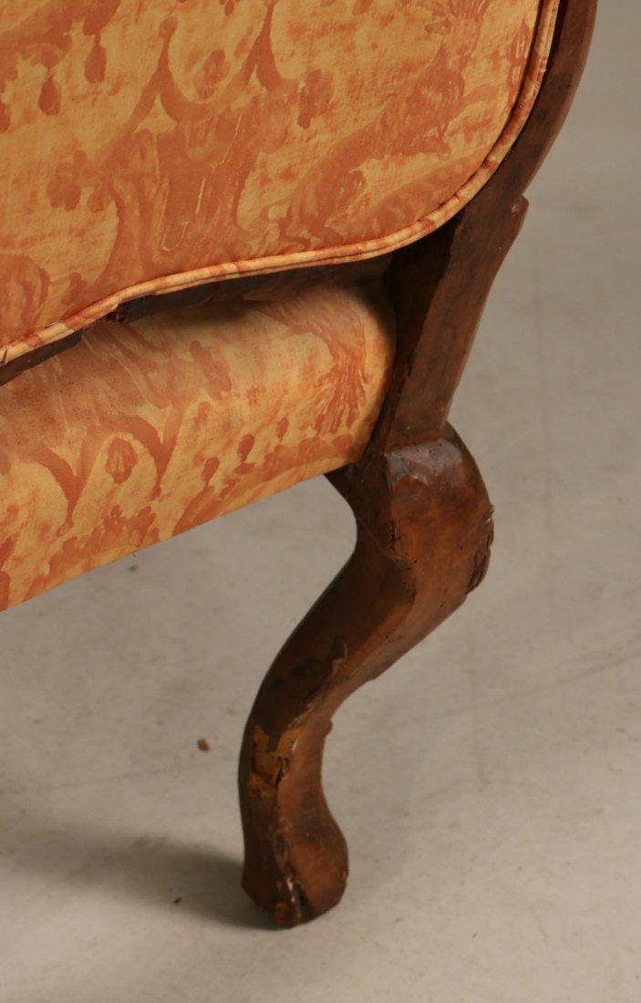 Rococo Carved Walnut Armchair - 7