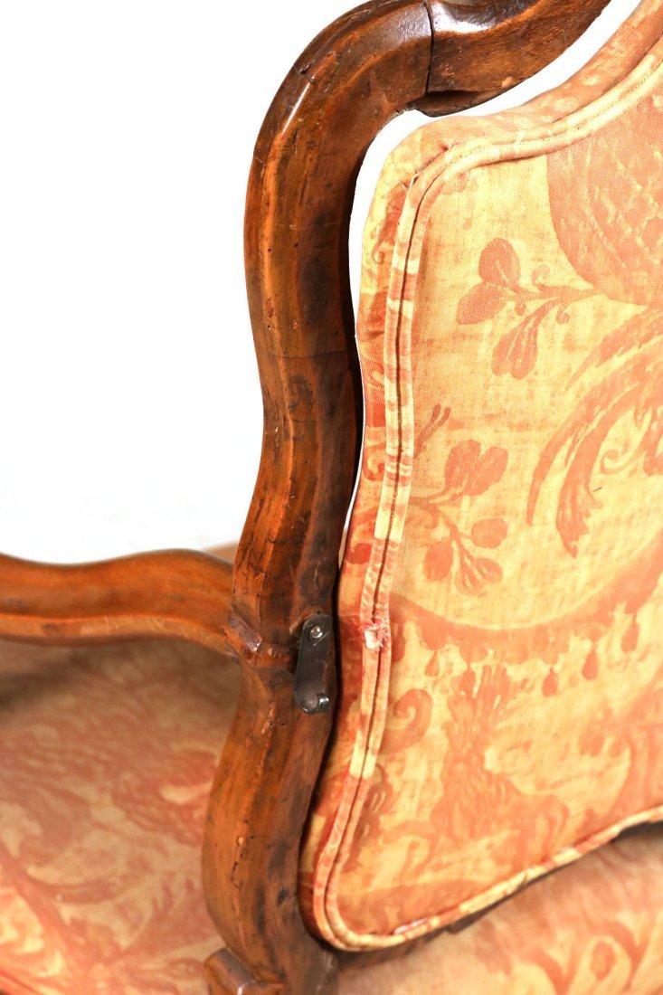 Rococo Carved Walnut Armchair - 8