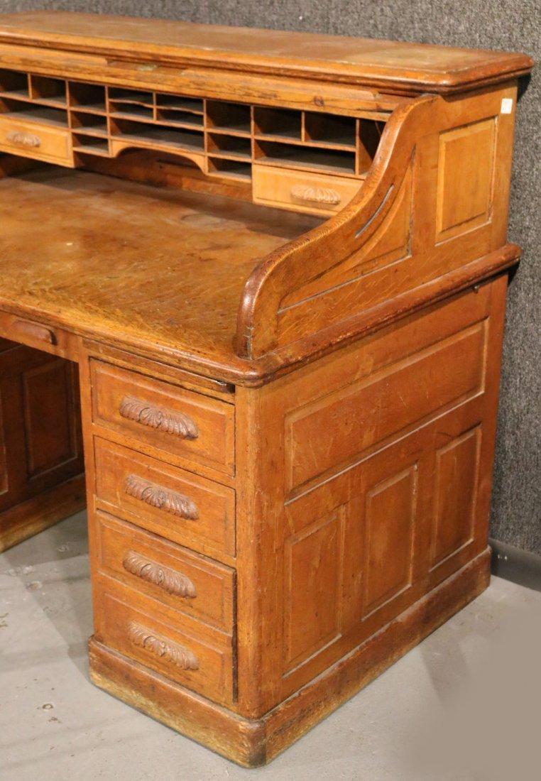 Oak Rolltop Desk - 2