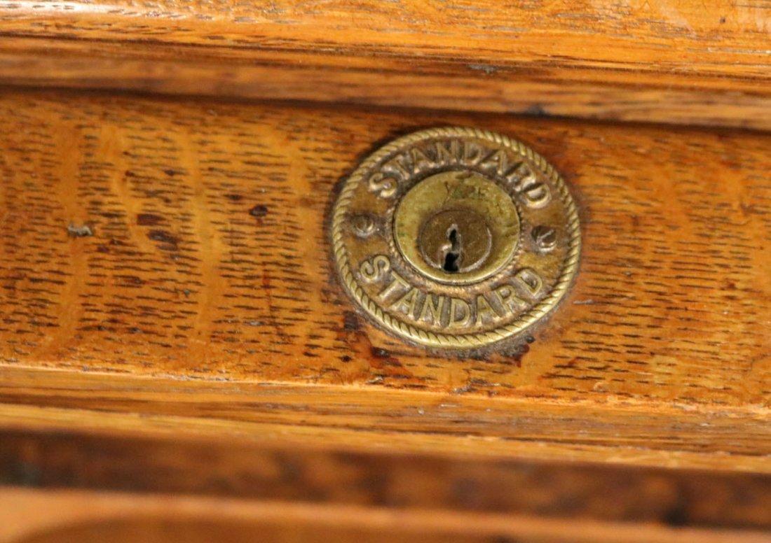 Oak Rolltop Desk - 5