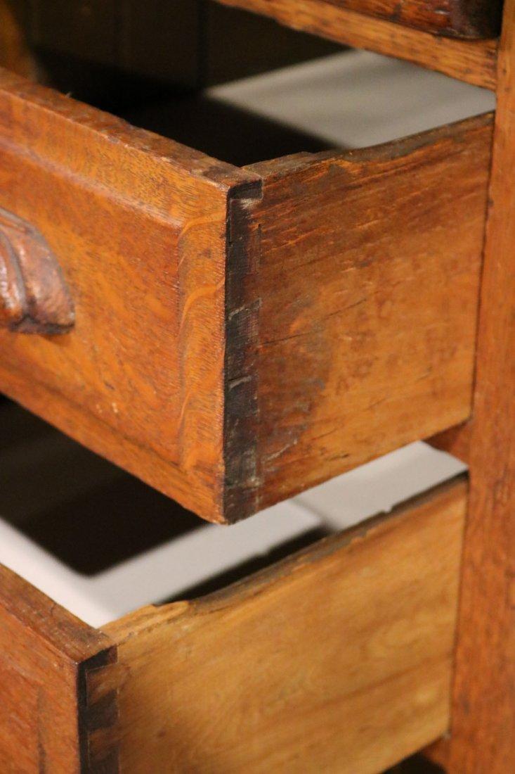 Oak Rolltop Desk - 7