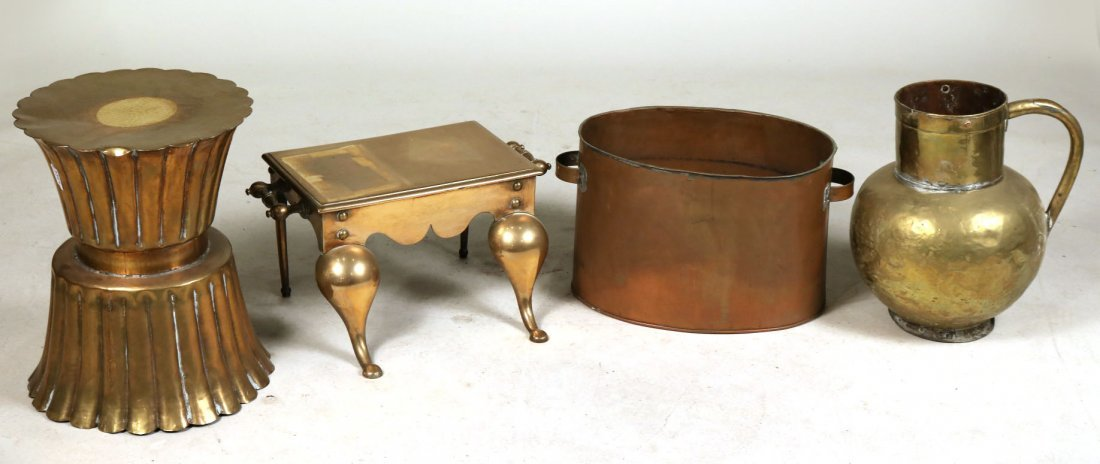 Four Brass and Copper Items