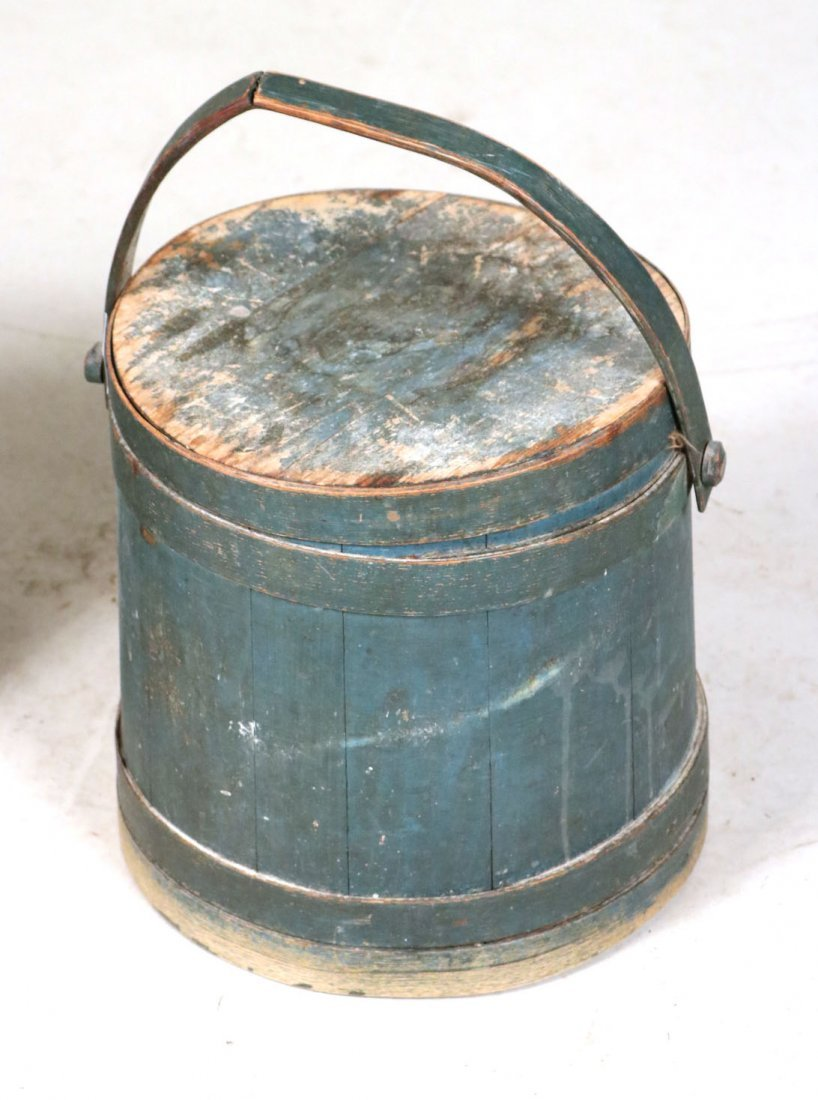 Blue-Painted Firkin - 2