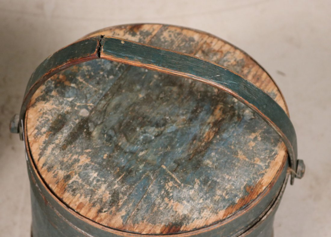 Blue-Painted Firkin - 3