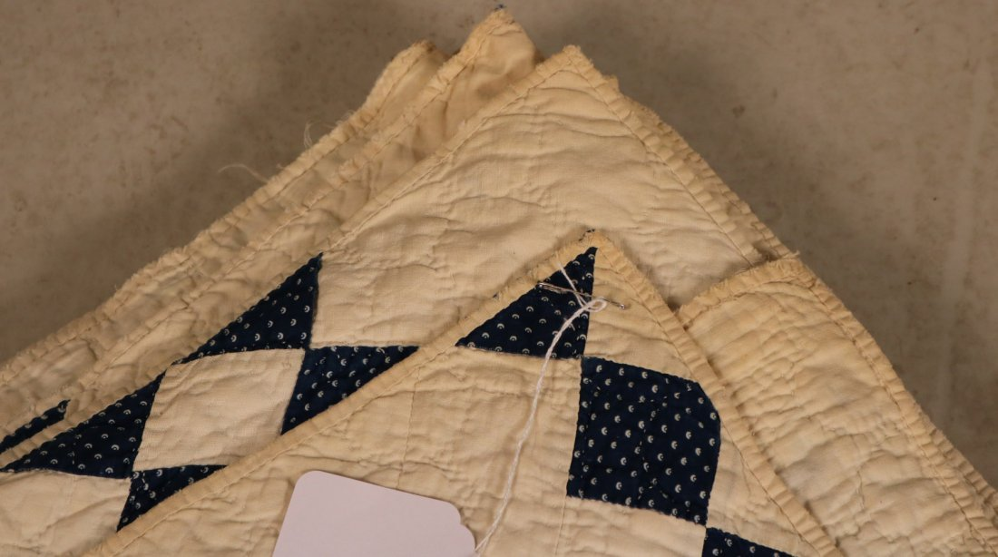 Three Hand-Stiched Pieced Cotton Quilts - 2