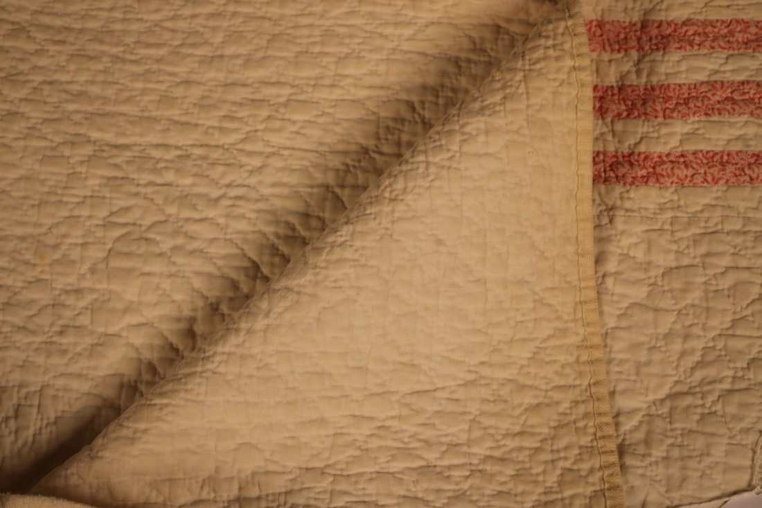 Three Hand-Stiched Pieced Cotton Quilts - 5
