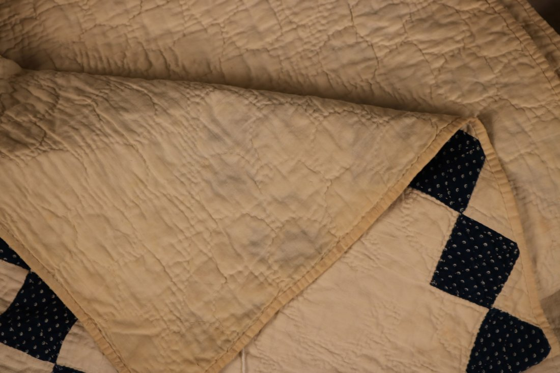 Three Hand-Stiched Pieced Cotton Quilts - 7