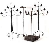 Four Wrought Iron Candle Holders