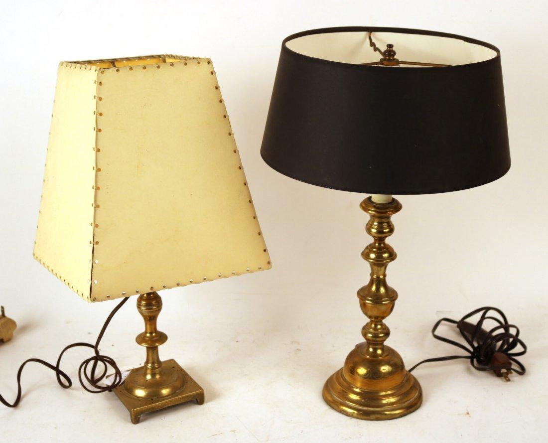Two Similar Brass Candlesticks
