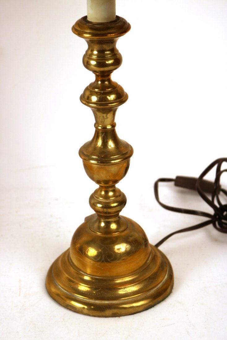 Two Similar Brass Candlesticks - 7