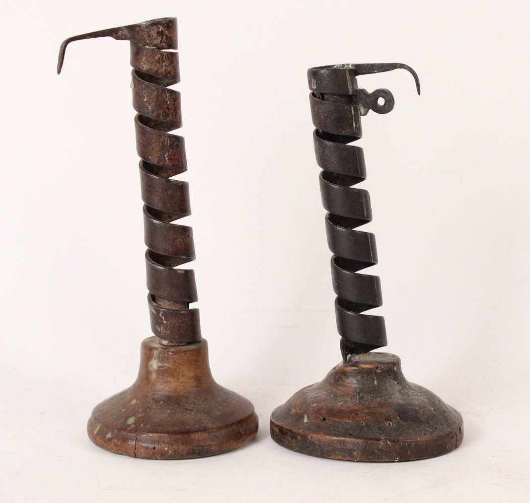 Seven Primitive Candle Holders - 2