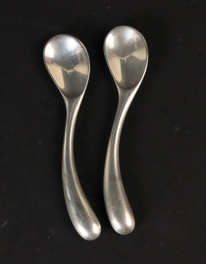 Set of Six Tiffany & Co Gilt Silver Coffee Spoons - 6