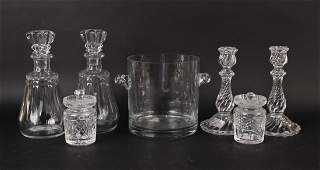 Two Baccarat Crystal Decanters with Stoppers
