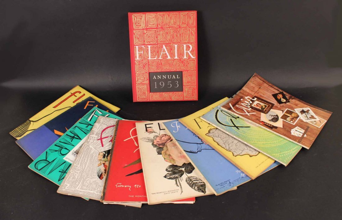 Eleven Copies of Flair Magazine