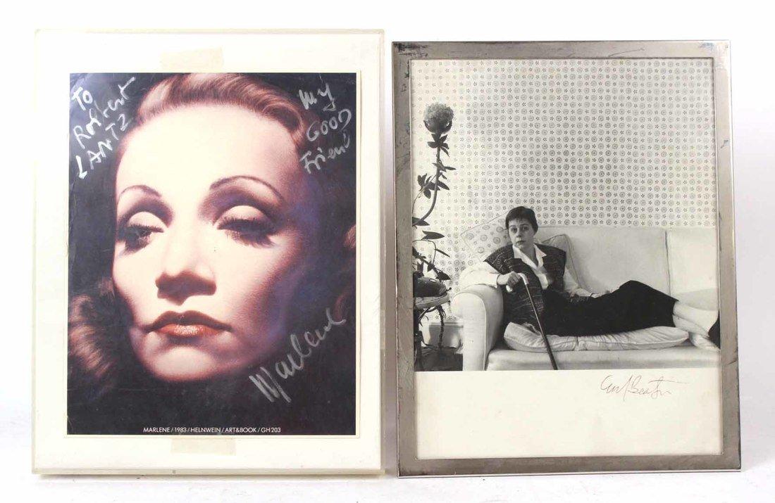 Autographed Photograph, Marlene Deitrich