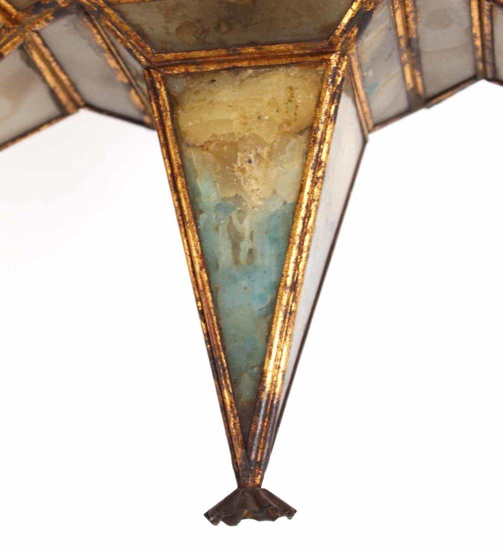 Glass and Gilt Metal Star Form Wall Sconce - 5