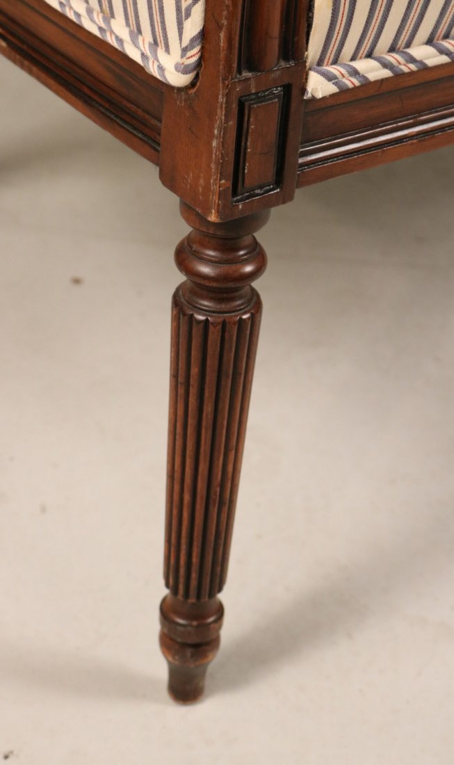 Federal Style Mahogany Settee - 4