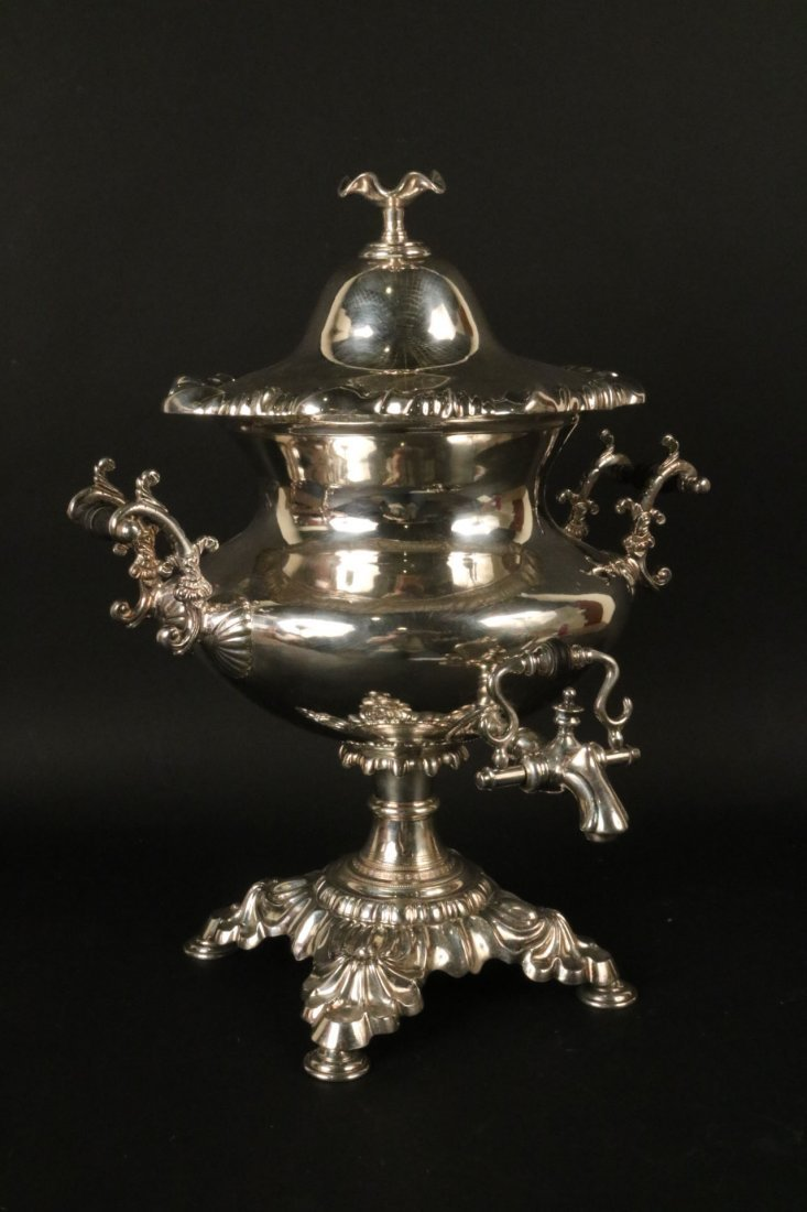 Monumental Rococo Silver Plated Coffee Urn