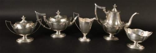 Gorham Sterling Silver Five Piece Tea Service