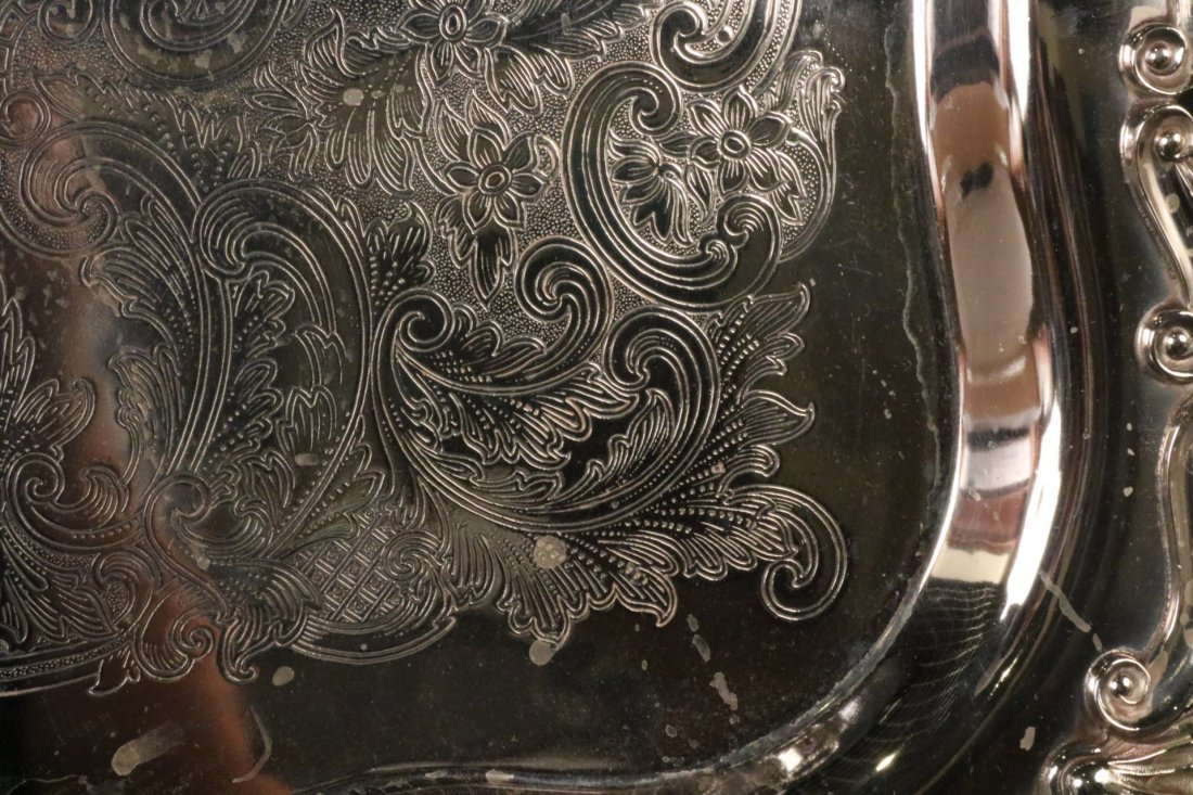 Silver Plated Double Handled Tea Tray - 2