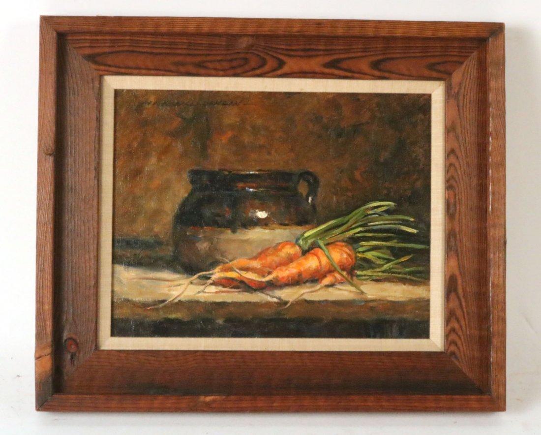 Oil on Canvas, Carrot Still Life, Hank McLaughlin