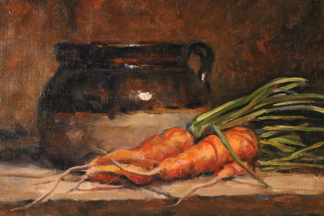 Oil on Canvas, Carrot Still Life, Hank McLaughlin - 2