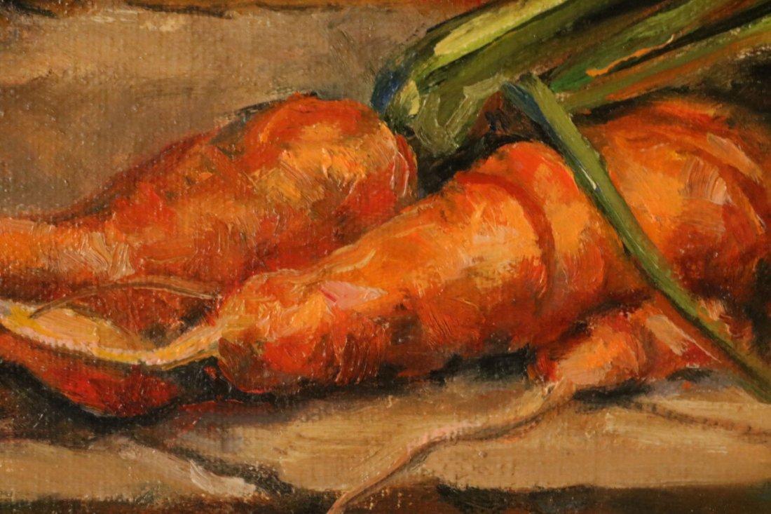 Oil on Canvas, Carrot Still Life, Hank McLaughlin - 3