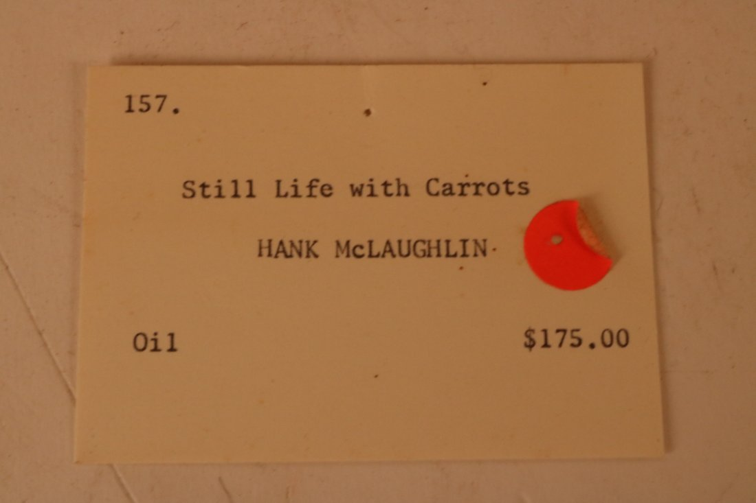 Oil on Canvas, Carrot Still Life, Hank McLaughlin - 6
