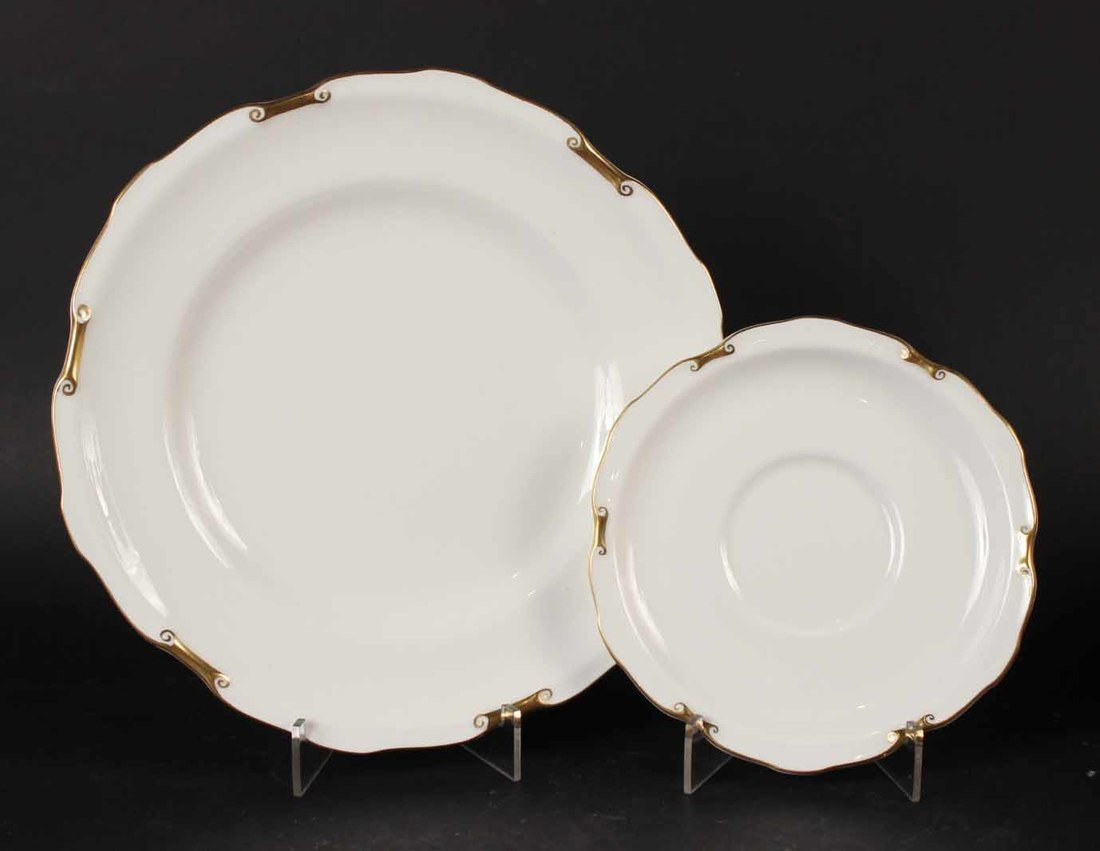Thirty Ernst Wahliss Octagonal Porcelain Plates - 5