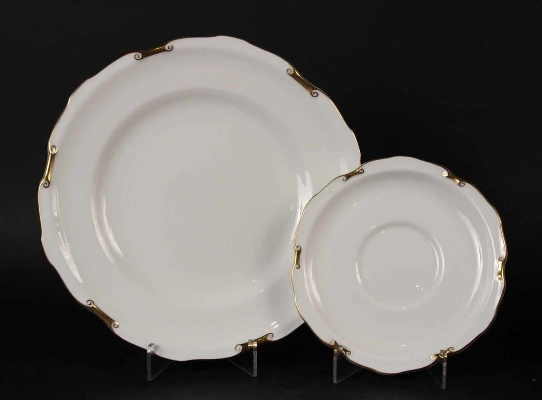 Thirty Ernst Wahliss Octagonal Porcelain Plates - 6