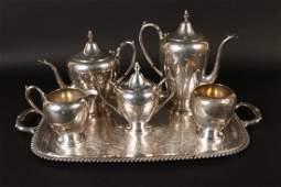 EB Rogers Sterling Silver Five Piece Tea Service