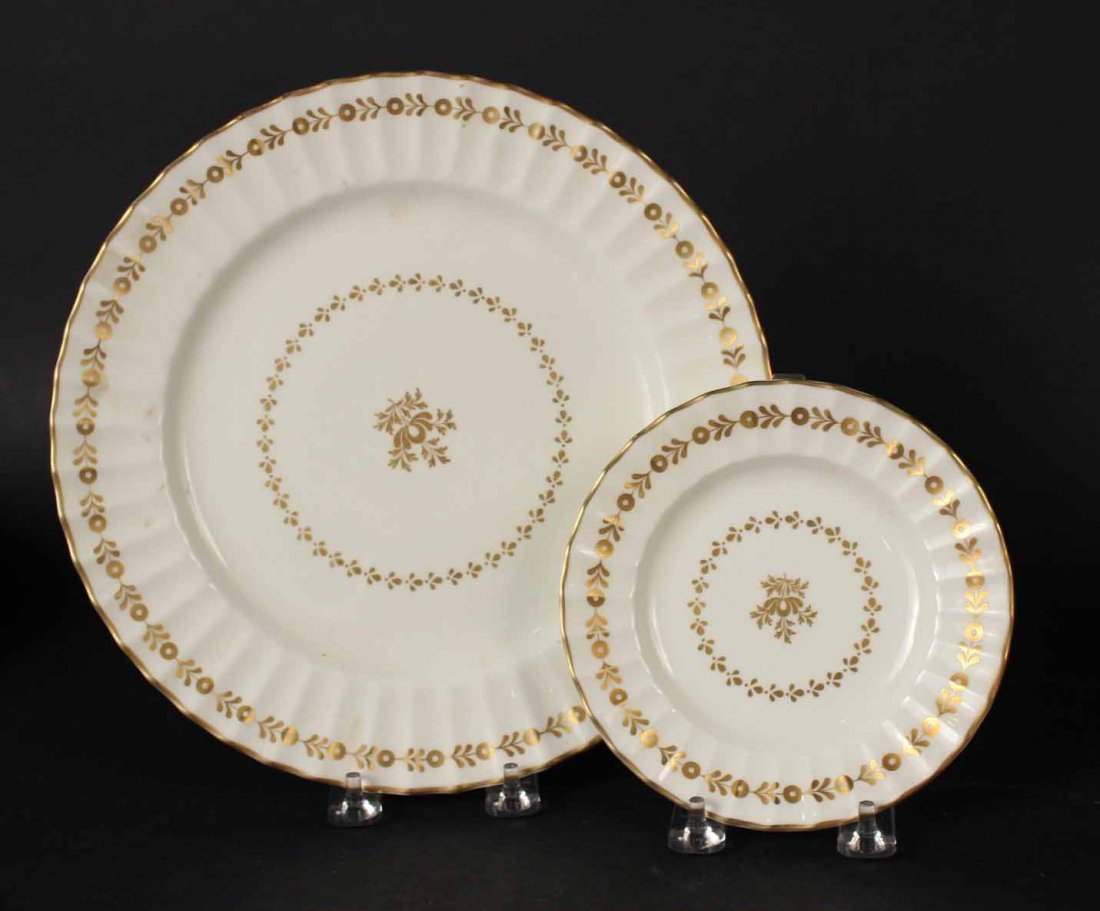 Eleven Black Knight Floral-Decorated Plates - 6
