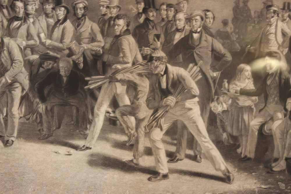 Etching of Golfers, En Grisaille - 3