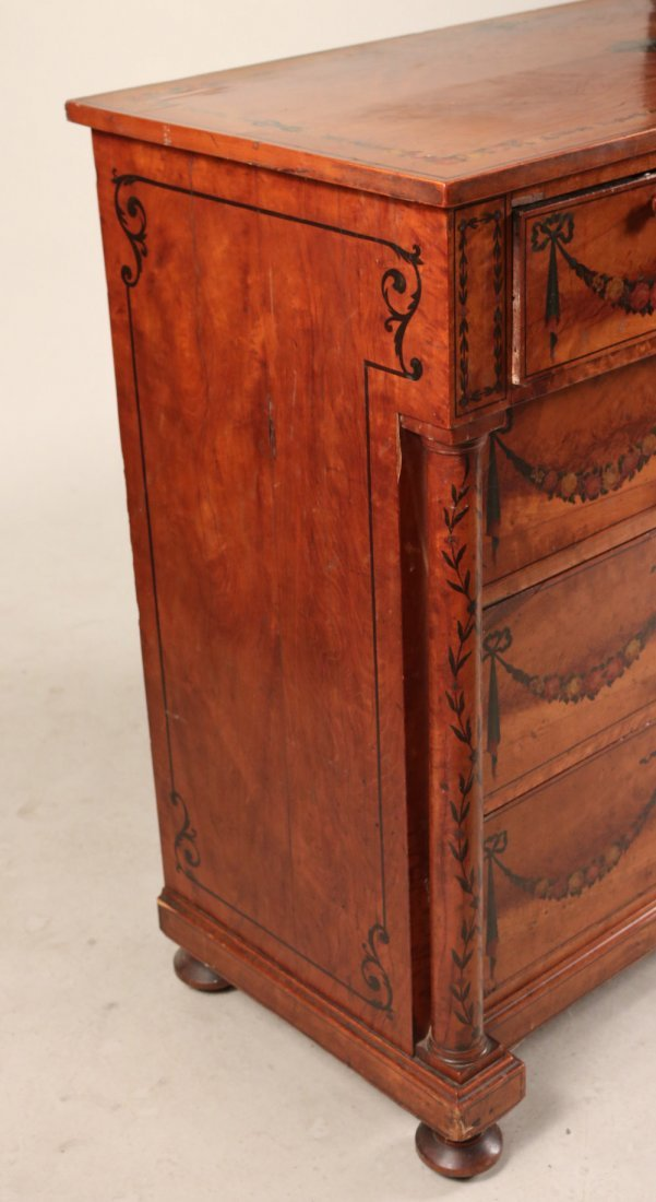Edwardian Style Paint-Decorated Chest of Drawers - 3