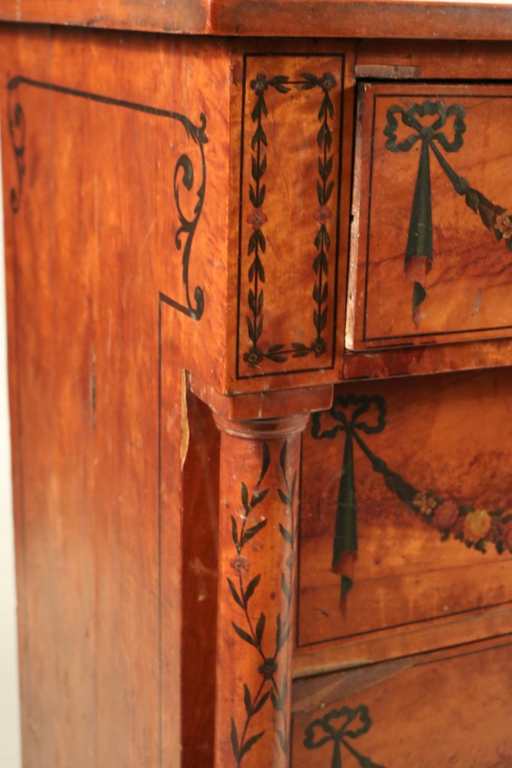 Edwardian Style Paint-Decorated Chest of Drawers - 6