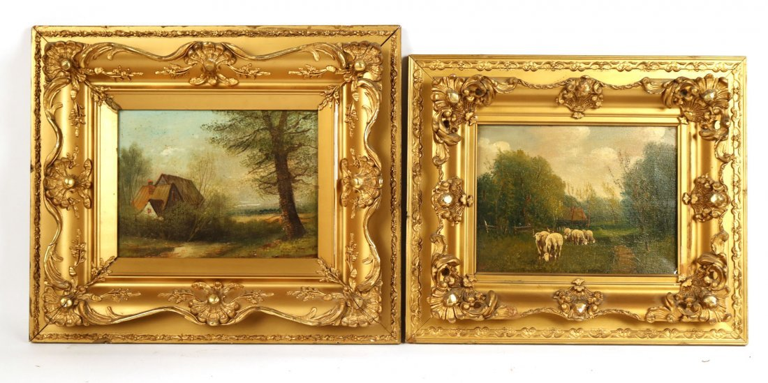 Two Oil on Canvas Landscapes