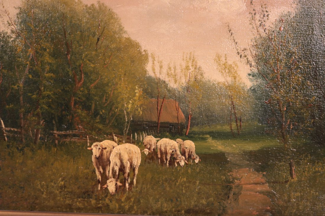 Two Oil on Canvas Landscapes - 8