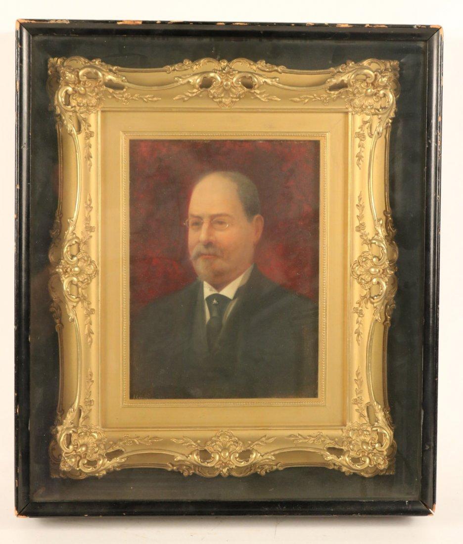 Oil on Board, Portrait of a Gentleman